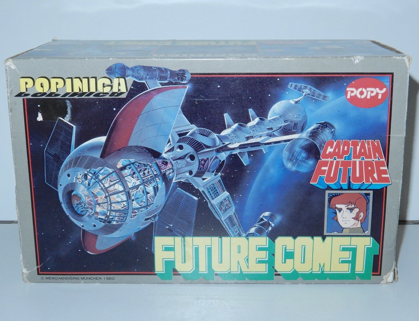 CAPTAIN FUTURE CAPITAINE FLAM POPINICA FUTURE COMET IN ORIGINAL BOX 1980s POPY