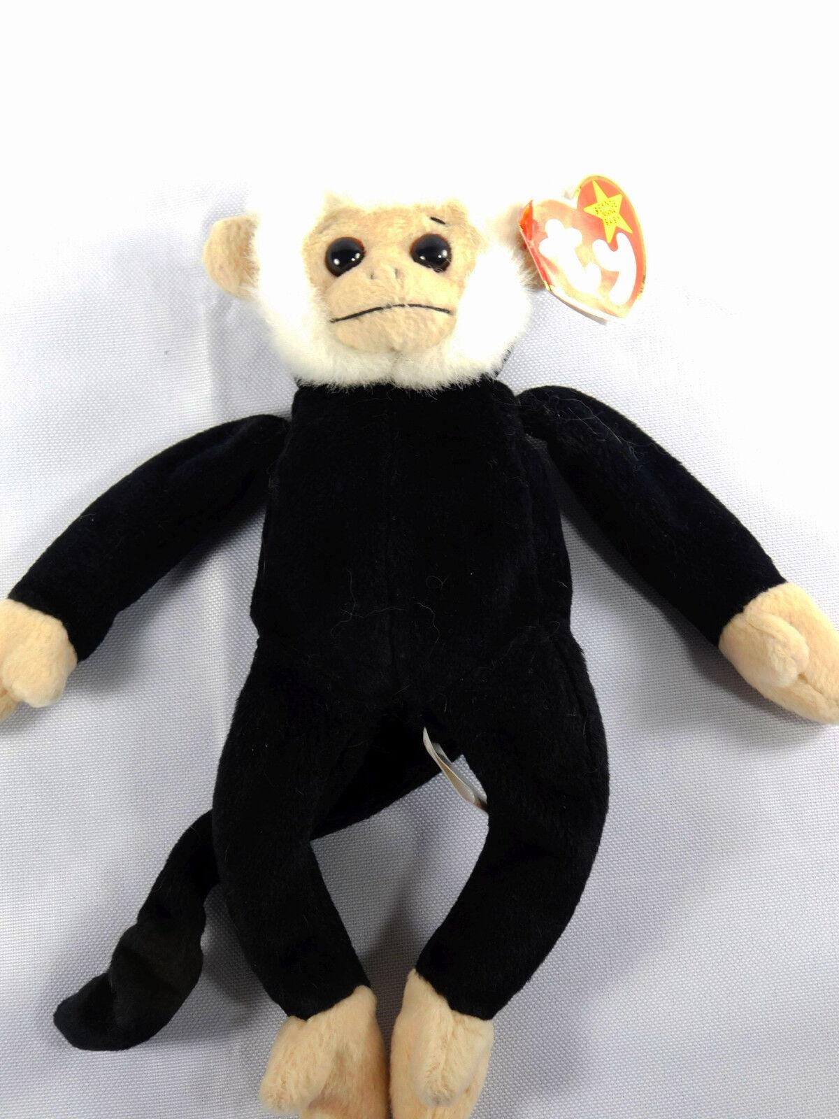 Ty Beanie Baby Original MOOCH THE MONKEY Retired W  Tag Errors