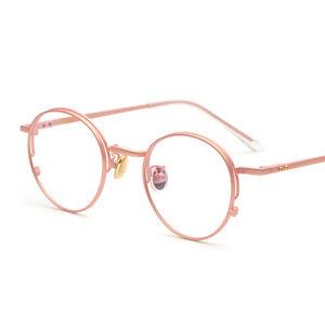 a8f22105da65 Vintage Round Pink Gold Eyeglass Frame Full Rim Glasses Spectacles ...