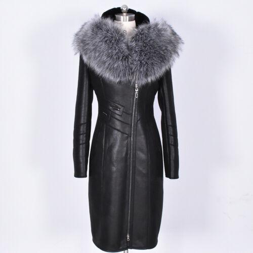 Womens' Outwear Jacket Faux Genuine Parka Hooded Winter Leather Coat Fur wwnxaT