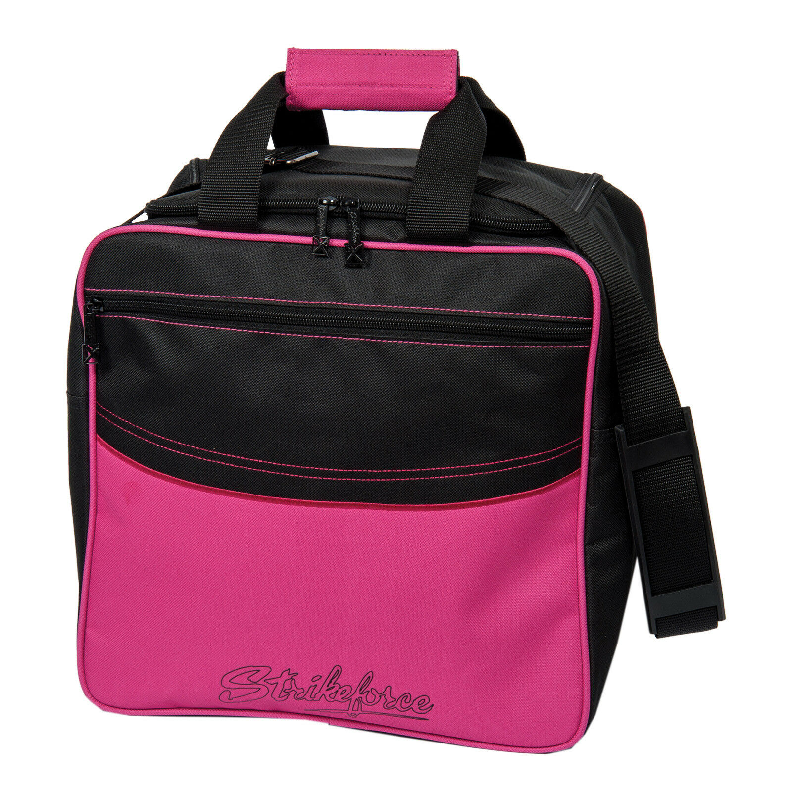 Bowling Ball Bag Kr Strikeforce colors Single Pink, Room for Bowling shoes