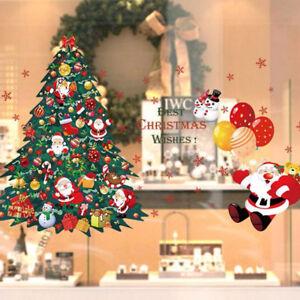 Wall-Sticker-Christmas-Wishes-decorazione-vetro-negozio-casa-albero-babbo-natale