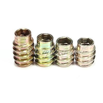 10Pcs M6 12/13/15/18mm E-Nut Wood Insert Hex Socket Nut Furniture Leg Feet Fix