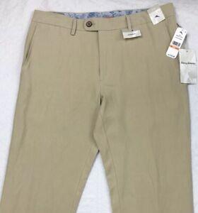 Men-039-s-Tommy-Bahama-lin-soie-pantalon-33x32-33-32-Dusty-acajou-Beige-Nouveau-145