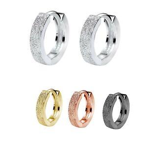 Damen-Maedchen-Kinder-Ohrringe-Creolen-diamantiert-925-Silber-Klappcreolen