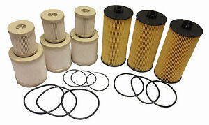 2003- 2007 Ford 6.0L Oil and Fuel Filter 3 sets of FD4604 + FL2016