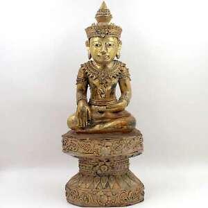 Siddharta-Buddha-personaggio-Birmania-58-5cm-Shakyamuni-foglio-dorato-Asia-Lifestyle