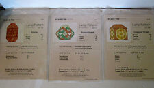 3 Vintage Stained Glass Lamp Patterns,By Silver Fox Productions, 1979