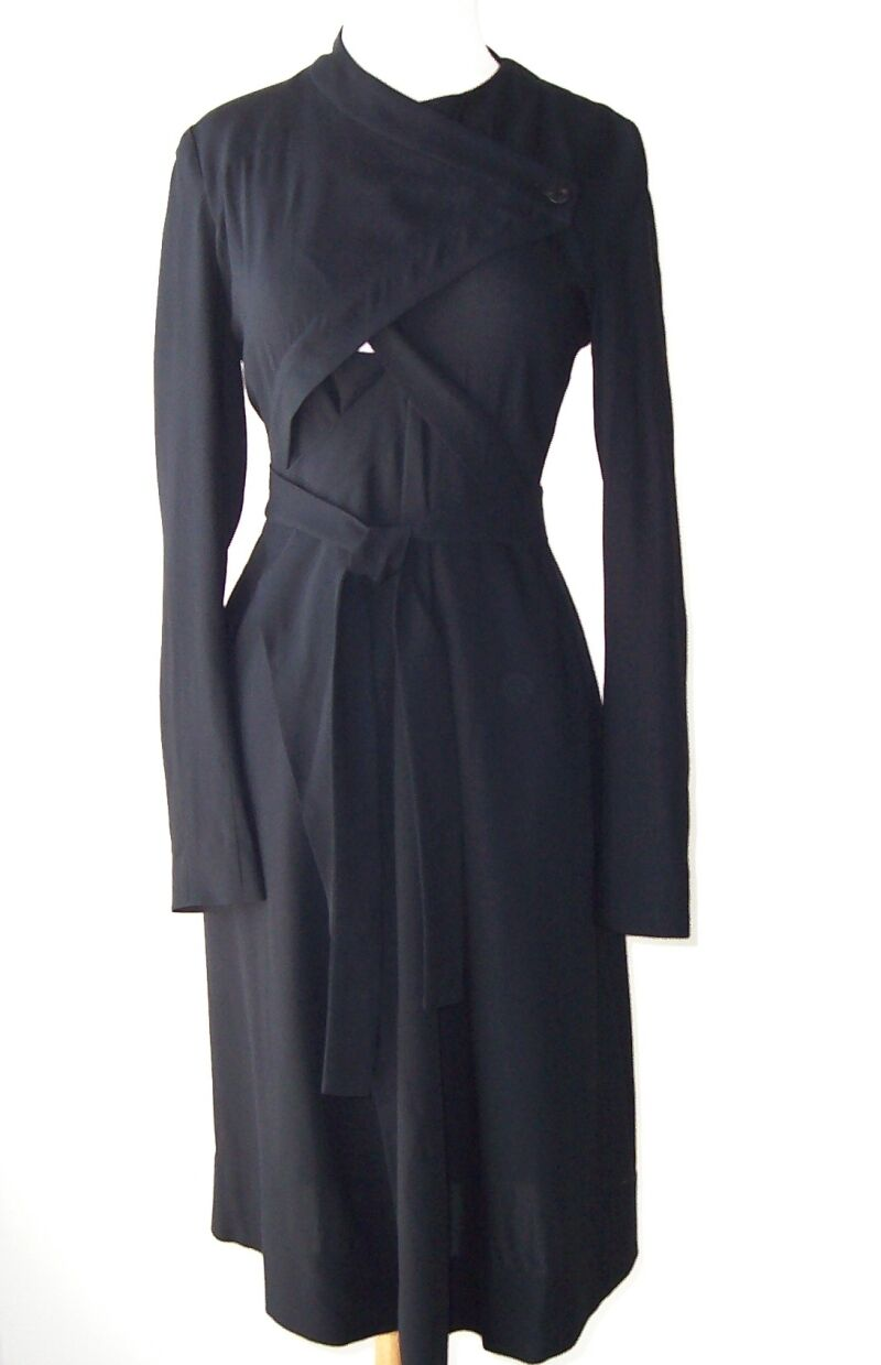 ILARIA NISTRI  Negro Corbata Abrigo Chaqueta Abrigo 40 4  los nuevos estilos calientes