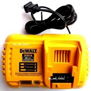 NEW Dewalt Genuine DCB118 Flexvolt 20V-60V Rapid Battery Charger Volt Lithium