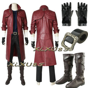 DMC Devil May Cry 5 Dante Cosplay Costume with Boots