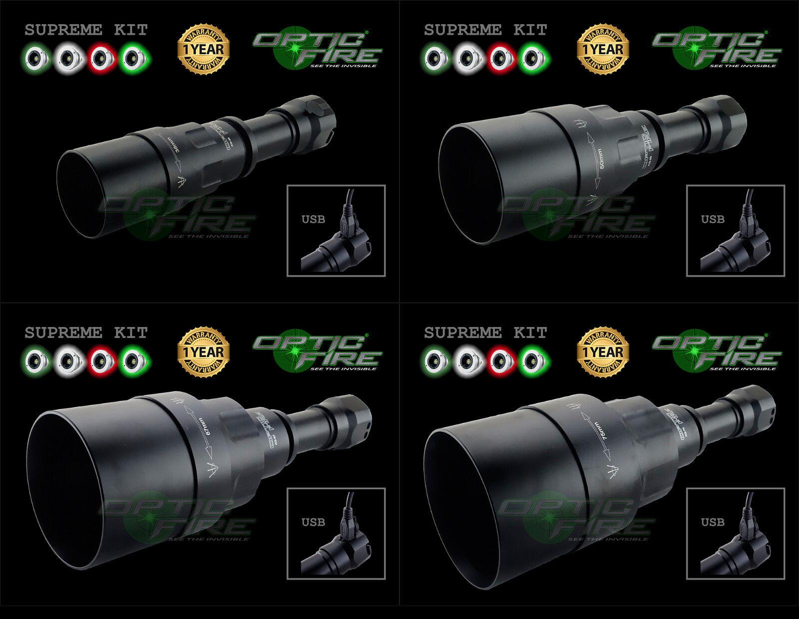 Opticfire® AG 4 LED High power supreme hunting lamp torch NV light lamping kit