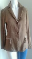 PHILIPPE ADEC brown linen ladies jacket  UK 12