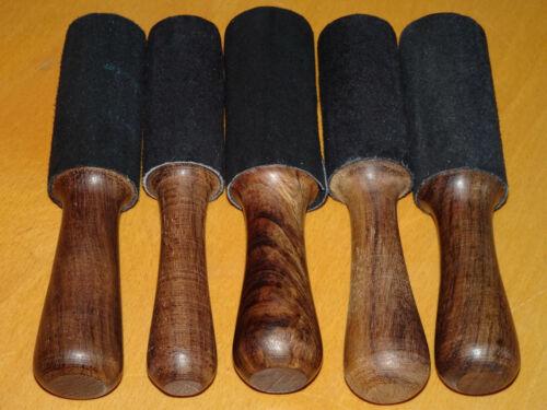 Made in Nepal Lederklöppel Länge 13,5 cm Reibeklöppel für Klangschalen