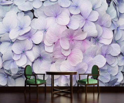-Hortensien Lila Pastell Blüten Orchideen VLIES Fototapete-BLUMEN-DESIGN- 3121
