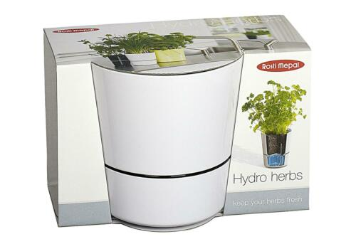Kräutertopf pot herbes anzuchttopf Fleurs Herbes Jardin Réservoir d/'eau blanc
