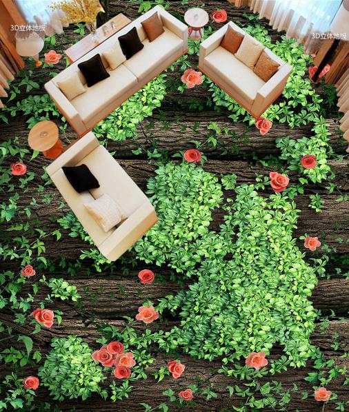 3D Grüne Bäume Blumen 6 Fototapeten Wandbild Fototapete Tapete Familie DE Lemon