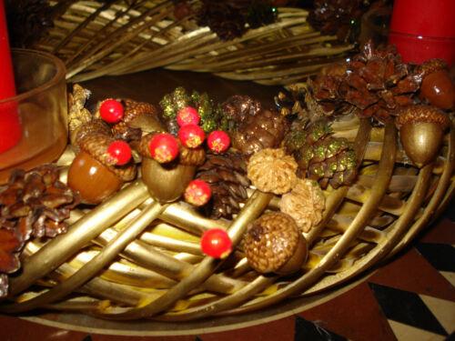 Acorn Oak Caps Hats Mini DIY Holiday Home Decor Wreath Floral Arrangement 300g