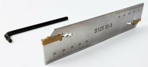 Abstechschwert S123 32-3 NEU 2 x Sandvik Stechplatten N123G2-0300-0003-TF 2135