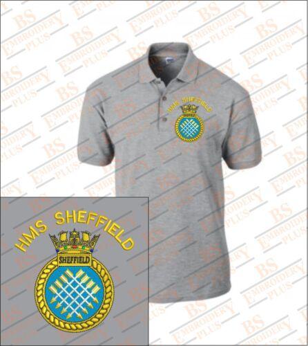 HMS Sheffield Brodé Polo Shirts