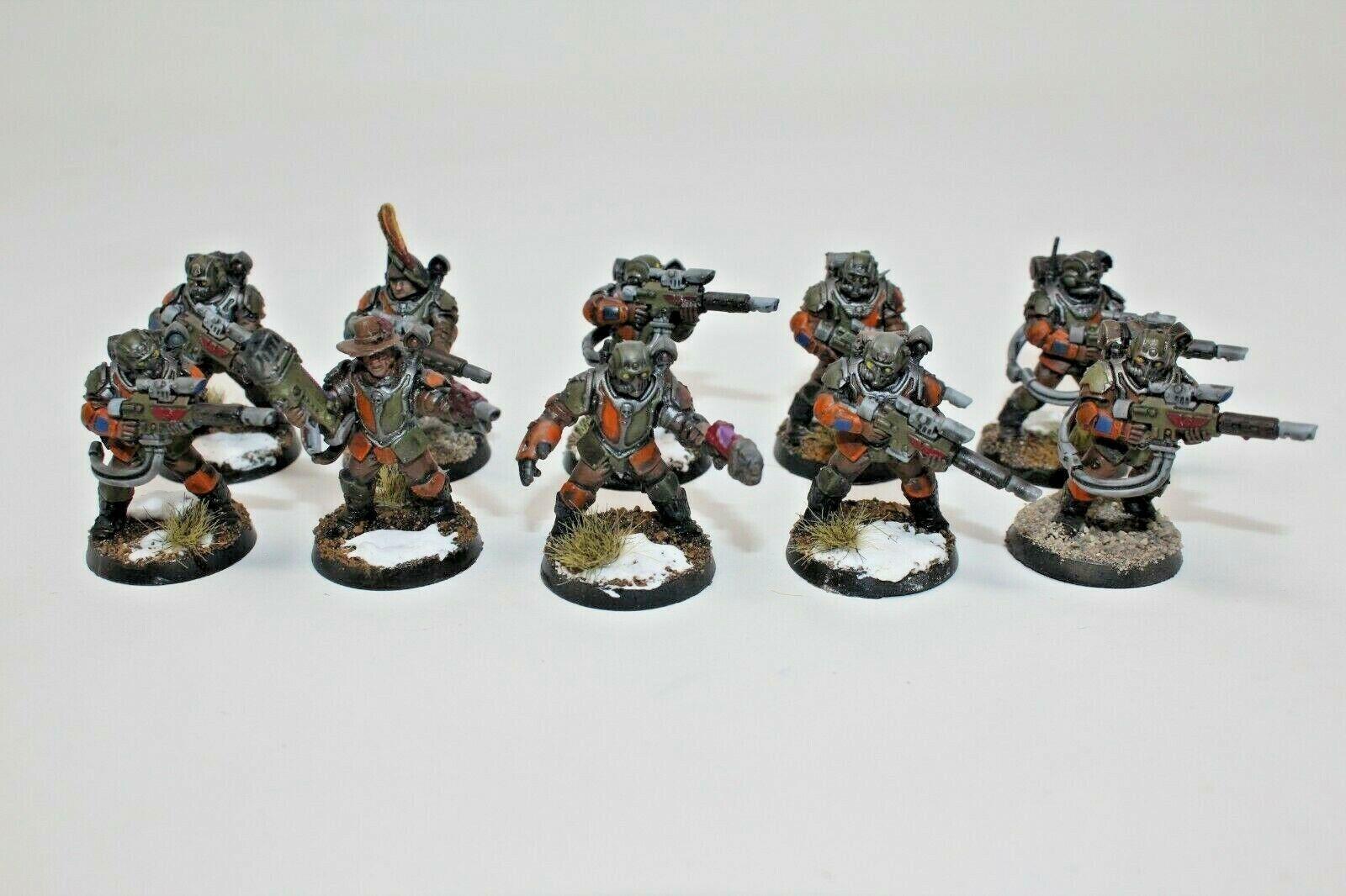 Warhammer Inperial Guardia scions bien pintado personalizado-JYS4