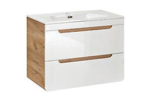 Möbel & Wohnen Möbel Ausdauernd Waschbeckenunterrschrank Aruba-serie 59 X 80 X 46cm Eine Lange Historische Stellung Haben