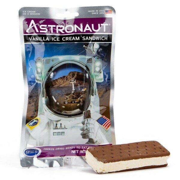 Astronaut Space Food - Vanilla Ice Cream Sandwich  - Freeze Dried Astro Food