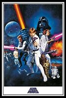 (FRAMED) STAR WARS A NEW HOPE MOVIE POSTER PRINT PICTURE - READY TO HANG ART NEW