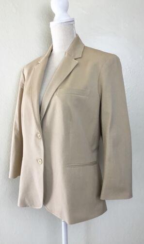 Ralph Jacket Blazer Size 16 Pale Lauren Wheat By New FgxzwEqXW