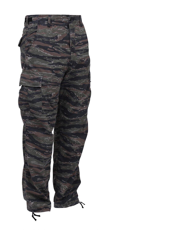 Tiger Stripe Camouflage Military Cargo Fatigue Uniform BDU Pants redhco 7995