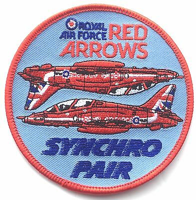 10505a2b7 RAF Red Arrows Synchro Pair Royal Air Force Military Embroidered Patch |  eBay