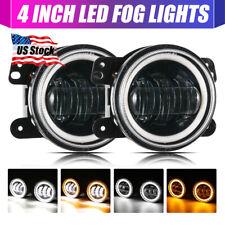 2pcs 4 Inch Led Fog Light Projector Angel Eyes For Jeep Grand Cherokee Wrangler