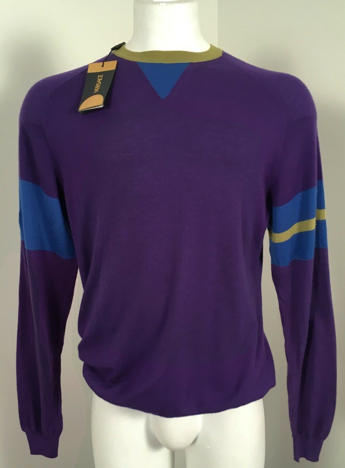 ... NEW Vintage 100% Gianni Versace Couture 100% Vintage Cashmere Sweater e  50 (M ... 82892b4baa