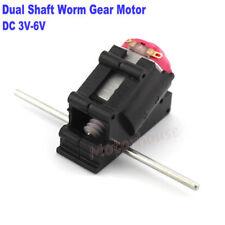 Dc3v 5v 6v High Speed Mini 130 Worm Gear Motor Dual Shaft Diy Toy Car Boat Model