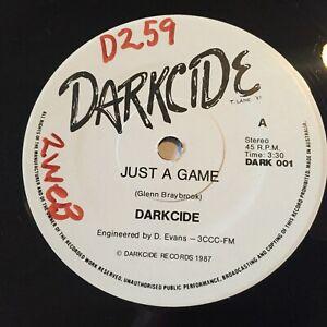DARKCIDE-THE-GANGSTERS-Rare-1987-Australian-7-034-45-Oz-Hard-Rock-AC-DC