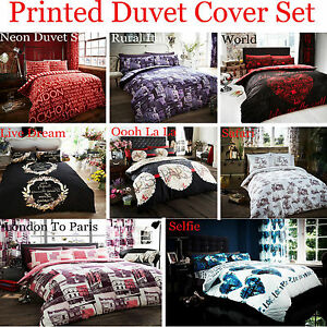 Poly Cotton New Printed Duvet Cover With Pillow Cases