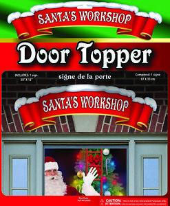 Christmas-Santa-039-s-Workshop-Door-Topper-Banner-Poster-North-Pole-Decoration