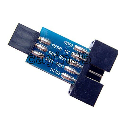 USBASP USBISP AVR Programador USB STK500 10 Pin convertir a 6 Pin Adaptador Board
