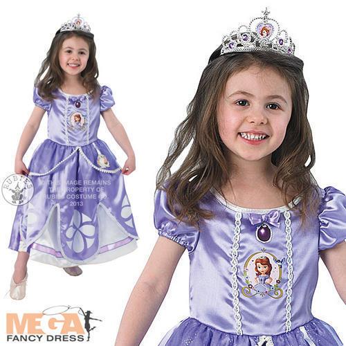 Deluxe Sofia la principessa ragazze Costume Disney Bambini Fairytale Childs Costume 2-6