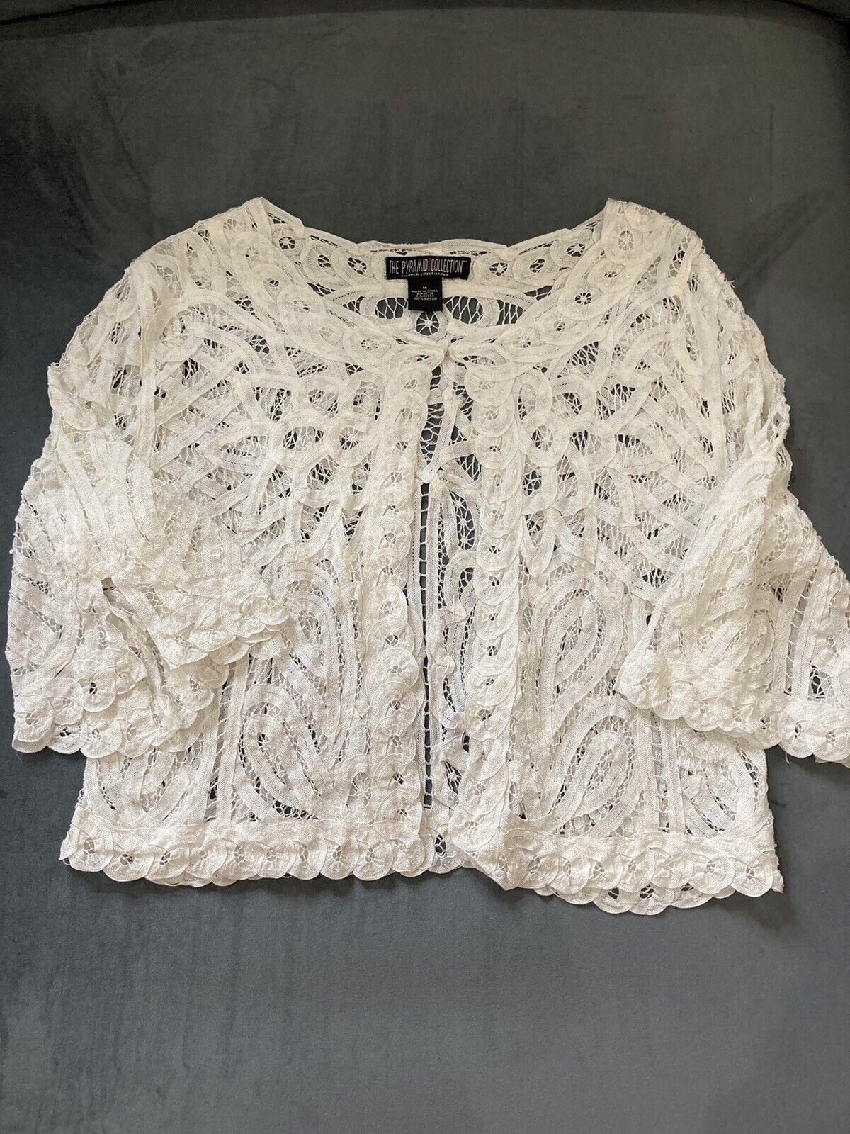 90s vintage fairycore bohemian crochet sweater - image 1