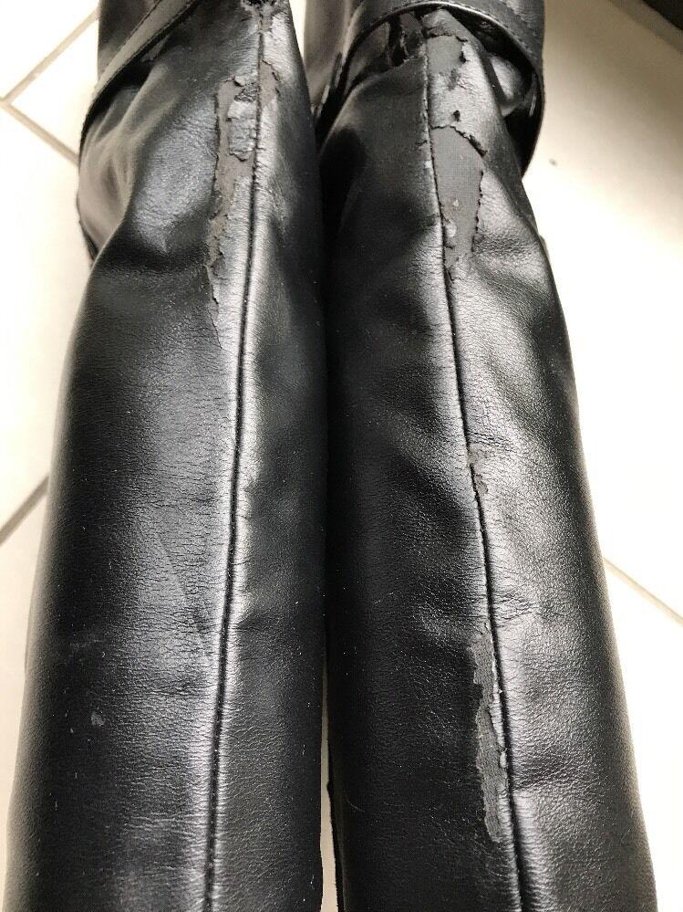 Damen Overknee Stiefel in schwarz von Catwalk günstig im
