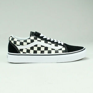 Details zu Vans Old Skool Primary Check Trainers Shoes Skate UK Size 6,7,8,9,10,11,12