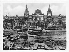 B44372 Amsterdam Central Station boats bateaux 7x9 cm  netherlands