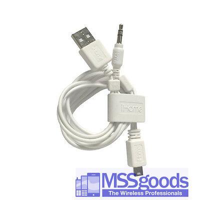 Genuine Ihome 3.5mm /& MINI USB Speaker Cable Adapter for ihm60 IHM61 ihm59 Black