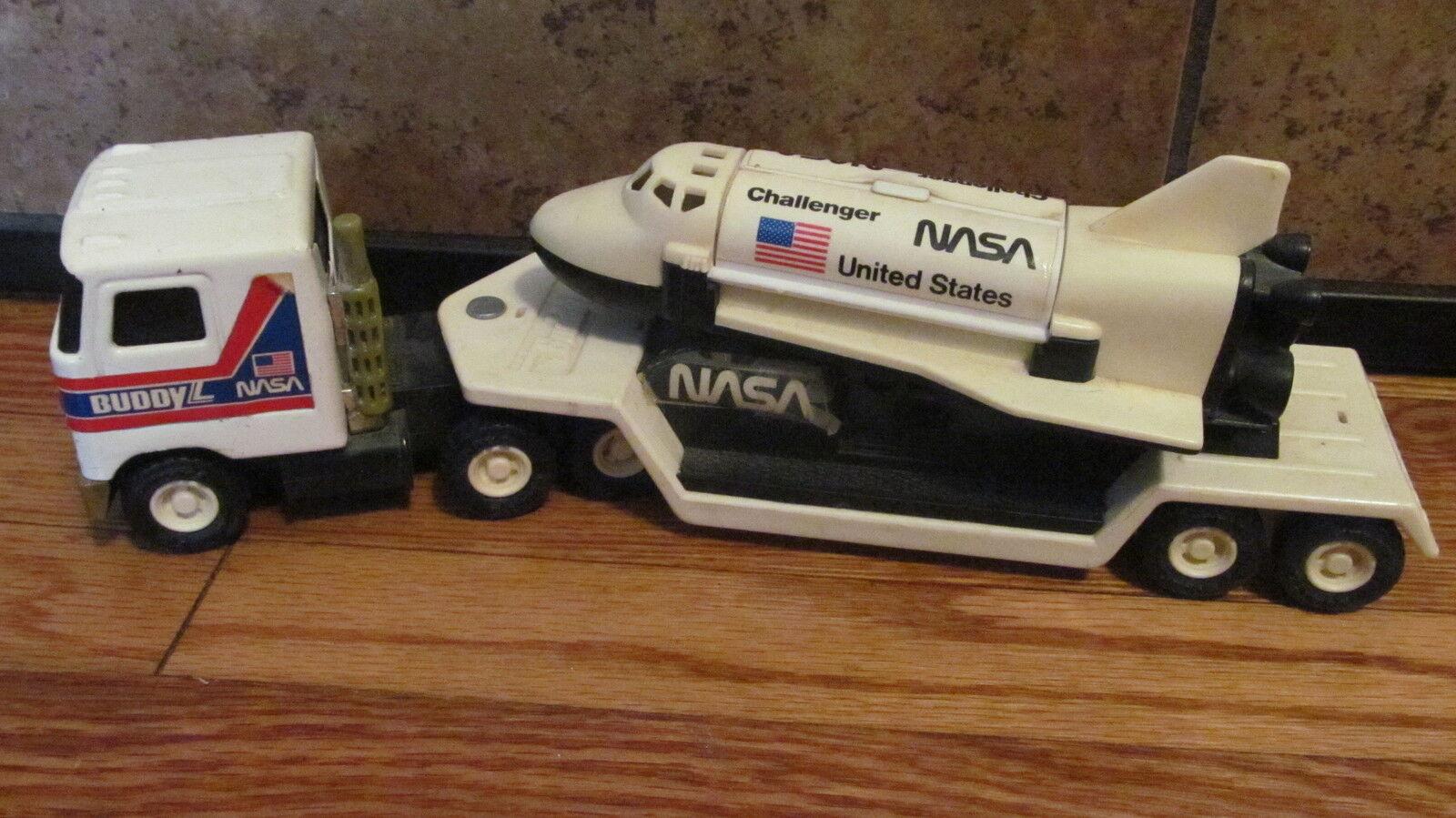 Buddy L  Nasa Semi-Truck & Trailer C   Nave Espacial Challenger-muy Raro