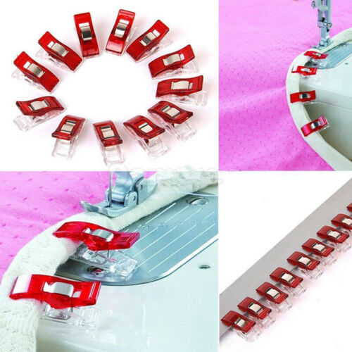 50Pcs Red Wonder Plastic Sewing Knitting Clips Clamp For Craft Crochet /& Binding