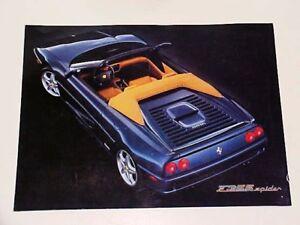 Details About Ferrari 355 Sales Brochure Pamphletf355spideroem