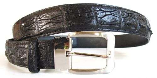 Backbone Genuine Real Crocodile Alligator Skin Men/'s Belt Black Size 35-45 New