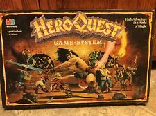 1990 Hero Quest Board Game System Incomplete #4101 Milton Bradley Fantasy