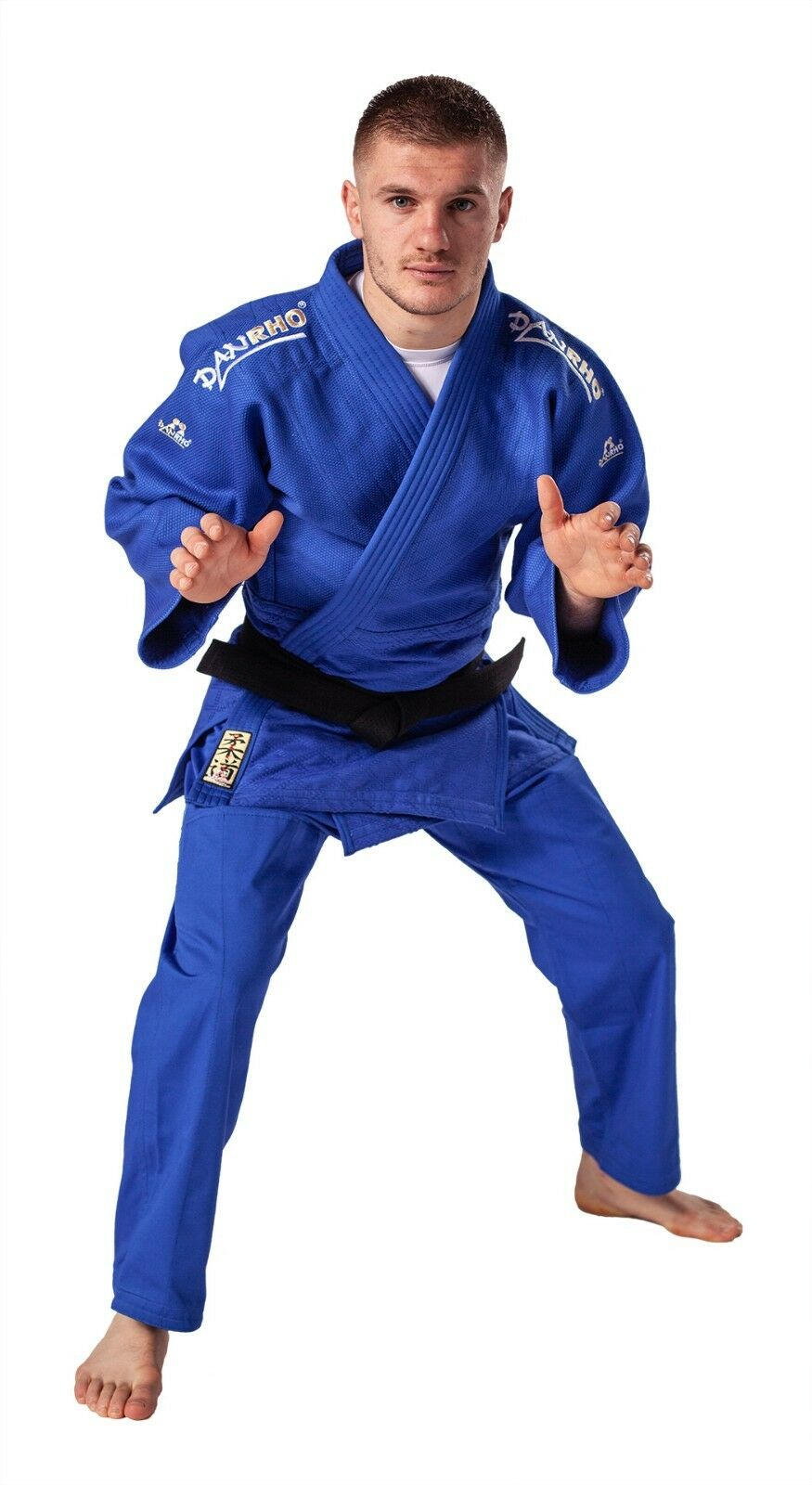 Trainings+ Wettkampf Judoanzug DanRho® Kano 900g m² blau, 140-200 Zwischengrößen